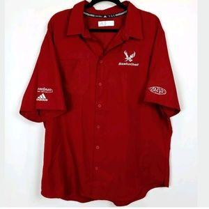 Adidas Button Up Collared Shirt EWU Eagles Top